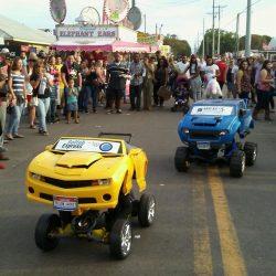 yellow blue crowd