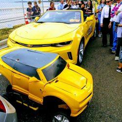 2 yellow camaros