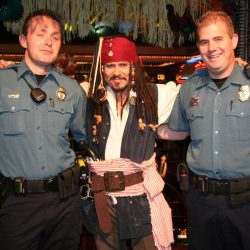 Captain Jack with police