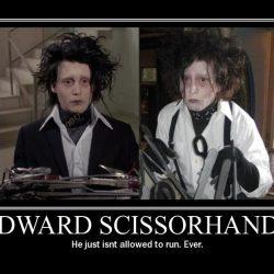 Scissorhands double